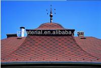 Fish-scale asphalt shingle roofing tiles (red) /colorful fiberglass asphalt shingle