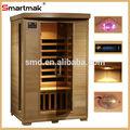 los estilos de vida más reciente de fibra de carbono calentadores 2 persona sauna de infrarrojos