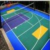 Multi court in easy movable PP interlocking floor