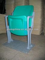 Green color Aluminium Frame outdoor floor mounted Stadium chair