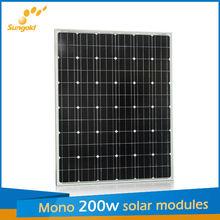 200 watt solar panel (ROHS,CE,ISO9001)