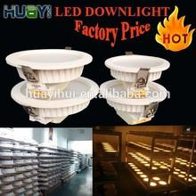 Wholesale 3 years warranty cob led downlight High Power 7W/ 9W/11W/15W/18W/ Dimmable led downlight