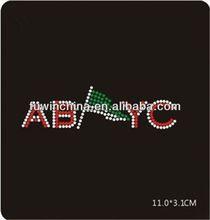 Fashion zumba rhinestone transfer iron on with rhinestone