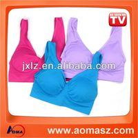 Hot genie bra sports bra front closure hot sexy girls black nude bra front closure