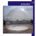 De gran tamaño de navidad de acrílico transparente hemisferio cúpula, de plástico transparente de acrílico esfera la mitad de la cubierta