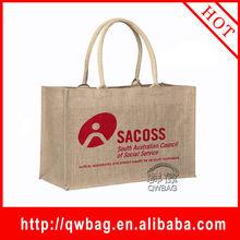 The durable and cheapest customized funny handbag jute bag