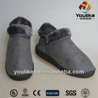 YL9215 Grey Women Shoes Indoor With Short Plush Tongue