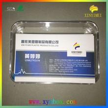 93*68*10mm di plastica trasparente biglietto da visita scatole