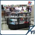 Kiosco de accesorios móviles para contador muestrario de cristal/kiosco de accesorios para teléfono móvil