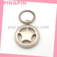 2015 DIY matt pearl nickel plating key ring metal