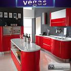 Melamine board modern MDF kitchen cupboard