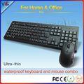 stock com fio padrão usb mouse usb com fio padrão do teclado com teclas de laranja impermeável teclado para pc
