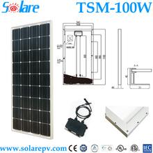 high efficiency TUV IEC Certified 100W monocrystal solar panel