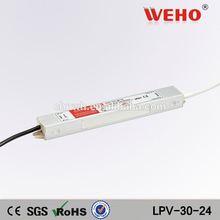 110VAC(220VAC) to 24vDC Power transformer waterproof IP67 dc 24v 30w led power supply
