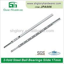 Steel Ball Bearing 27 mm 2 fold drawer slide