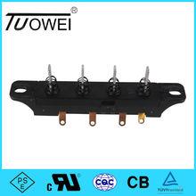 250V TUV,ULcertificated 4 key push button electrical fan switch