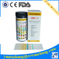 Test d'urine bandes 11 paramètres, kits de test de diagnostic médical