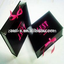 US$500 cash coupon custom black Folding matt wedding dress packaging box