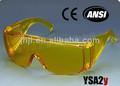 Gelben rahmen, pc schutzbrille gelb-objektiv