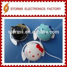 Cute in-ear sports Hello kitty headphone earhook for Children