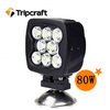 SUPER BRIGHT 8PCS*10W LED TRACTOR WORK LIGHT,80W LED Spotlight for Motorcycles Accessories