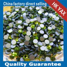 W0124 peridot flat back non hot fix rhinestone,non hot fix rhinestone flat back,china supplier non hot fix rhinestone