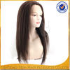 China supplier hot sale 100 brazilian virgin human hair glueless full lace wig with bangs