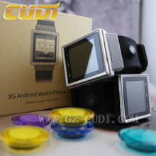 Alibaba best seller 2.0M Prepositive camera, Dual CPU, GPS navigation, 3G android watch phone bluetooth with WIFI