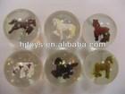 Transparent rubber bouncing ball 3D bouncing ball (Horse)