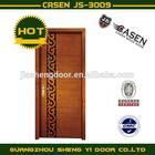 Teak veneer exterior double door in black carving