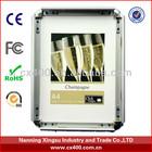 aluminum wall-mounted snap frames