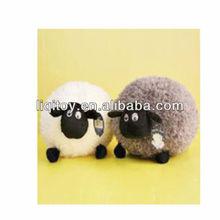 Cute stuffed soft plush ball shaped body sheep doll