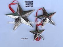 Christmas Tree star made in Aluminium with nickel finish