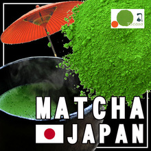 Organic Matcha green tea available in various packaging forms