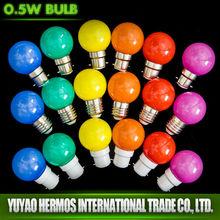 Superior Quality Colour Led Bulb 3w 230V With PC Cover RGB
