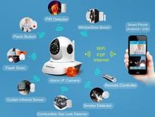 T7838WIP-AR video alarm camera P2P PnP wireless digital alarm ip camera with P/T & video recording for video alarm system