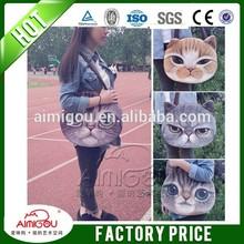 2014 Fashion shopping bag / cat face handbags / fabric shoulder women bag