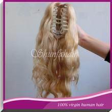 claw clip ponytail,hair virgin brazilian hair extension,human hair drawstring ponytail