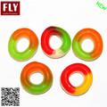 círculo colorido em forma de anel untada doces gummy doces anel