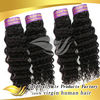 China new products 2014 brazilian hair weft deep wave hairs black bun hair pieces
