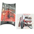 Kırmızı leopar hattı manşet, kürek, kırbaç, top gag, yaka ve gözbağı maskesi fetiş fantezi serisi