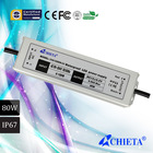 80W Constant Current 1500mA 2000mA 3000mA Waterproof LED Driver IP67