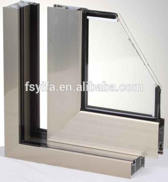 Aluminum Three Panel Standard Sliding Glass Door Size