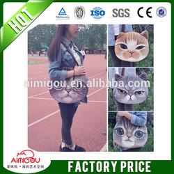Top quality hot design cat face wholesale cat face fashion design school bag for girl