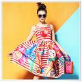 Custom-made vestido estampado Digital com padrão de Design serviço e serviço tecido