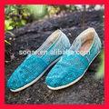 nueva llegada de ganchillo para mujer zapatos ocasionales zapatos de suela plana la venta