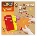 6 tarjeta de invitación y etiqueta 77( multi- propósito)- arte y artesanía de ideas de la actividad