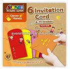 6 Invitation Card and 77 Sticker (Multi-Purpose) - Art and Craft Activity Ideas