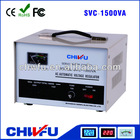 CE ROHS single phase 1500VA pure copper coil servo voltage regulator