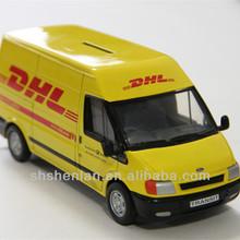 2014 New DHL mini van with free wheels and opened door